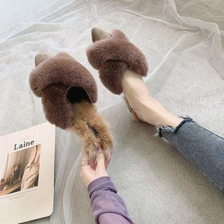Furry Pointy Toe Slippers