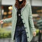 Cable Knit Hooded Coat