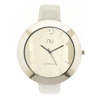 Large Mirrored Wrist Watch White - One Size
