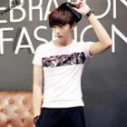 Floral Print Short-sleeve T-shirt