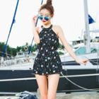 Dotted Strappy Back Swimdress