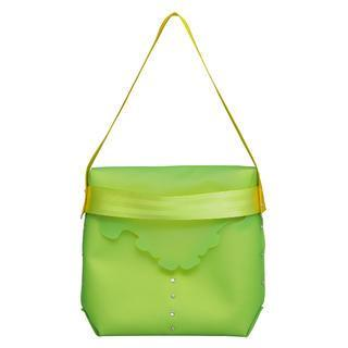 Petite Gothic Messenger Bag Green - One Size
