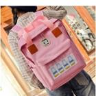 Applique Square Oxford Backpack