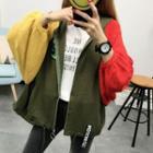 Raglan Hooded Knit Jacket