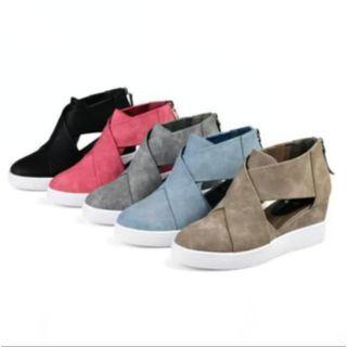 Platform Wedge Cutout Shoes