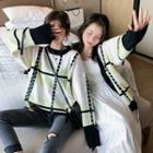 Plaid Sweater / Cardigan