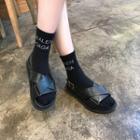 Slingback Flat Slide Sandals