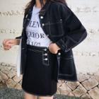 Denim Jacket / Denim A-line Skirt