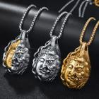 Buddha & Demon Stainless Steel Pendant Necklace