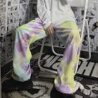 Tie Dye Corduroy Wide-leg Pants As Shown In Figure - One Size