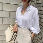 Sleek Plain Shirt In 4 Colors