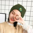 Avocado Embroidered Knit Beanie