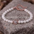 Swarovski Elements Crystal Faux Pearl Bracelet