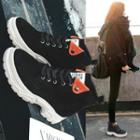 Applique Platform High-top Sneakers