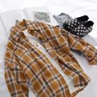 Plaid Pocket Detail Shirt Curcumin - One Size