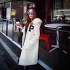 Furry-trim Hooded Applique Coat