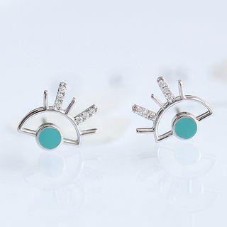 Rhinestone Eye Stud Earrings