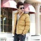 Faux Fur Hood Padded Jacket