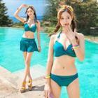 Set: Plain Bikini + Swim Skirt