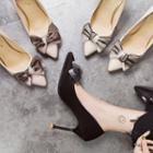 Bow Accent Pointy-toe Pumps
