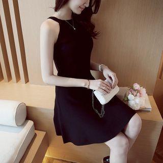 Sleeveless Knit A-line Dress