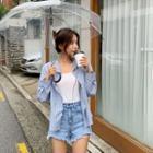 Hooded Stripe Shirt