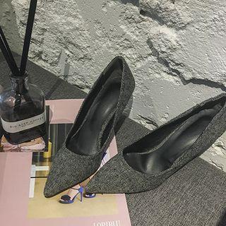 Pointy-toe Velvet Stilettos