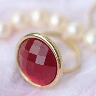 Red Diamond Ring