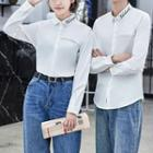 Couple Matching Embroidered Lettering Shirt