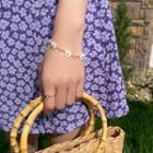 Floral Bracelet White & Gold - One Size