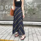 Patterned Maxi Chiffon Skirt