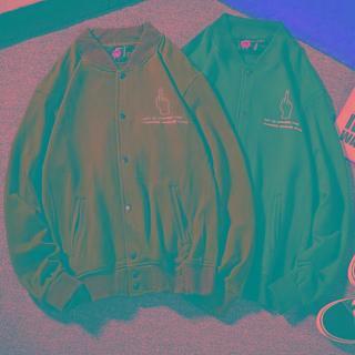 Button-up Baseball Jacket