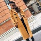 Toggle Hooded Tweed Coat
