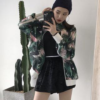 Floral Print Jacket / Shorts