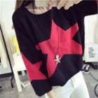 3/4-sleeve Star Sweater