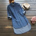 Dip-back Denim Shirt Dress