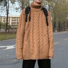 Turtleneck Oversize Cable-knit Sweater