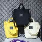 Label Canvas Bucket Bag