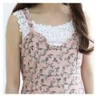 Sleeveless Floral Print A-line Mini Dress
