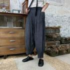 Pocket Detail Harem Pants Gray - One Size