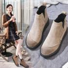 Platform Hidden-wedge Ankle Chelsea Boots