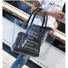Transparent Tote Bag With Pouch