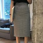 Plaid Straight Fit Skirt