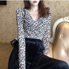 Leopard Long-sleeve Top