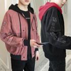 Hooded Zip Pocketed Jacket