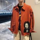 Frayed Trim Zip Jacket