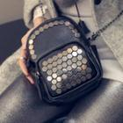 Studded Faux Leather Crossbody Bag
