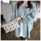 Zip-up Knit Coat