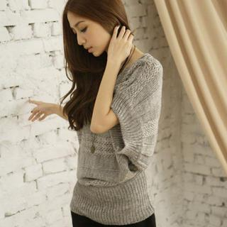 Batwing-sleeve Sweater