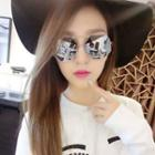 Mirrored Geometric Sunglasses